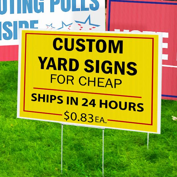 Political Signs Custom Yard
