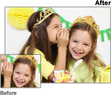 before and after minor image retouching samples